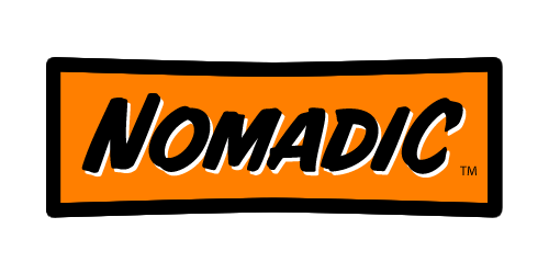 Nomadic Logo Orange Black tm